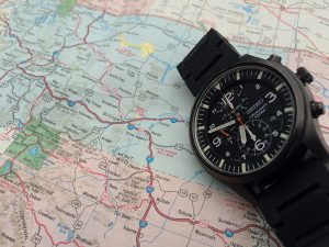 Seiko Watch and Map - Timing and Location