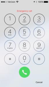 iPhone Emergency Call Pic 3