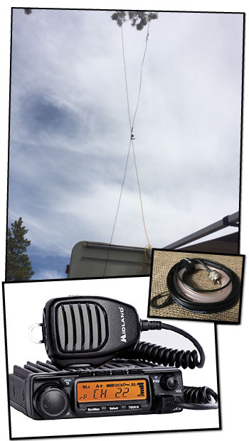 Midland MXT400 w J Pole Antenna in Tree