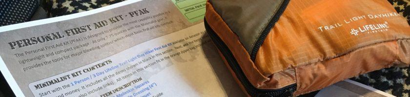 Personal First Aid Kit (PFAK) Checklist Feature