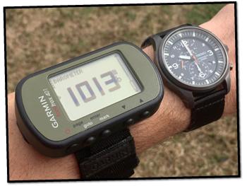 Garmin Foretrex401 Barometer