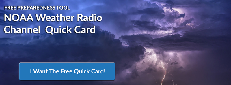 Free NOAA Weather Quick Card